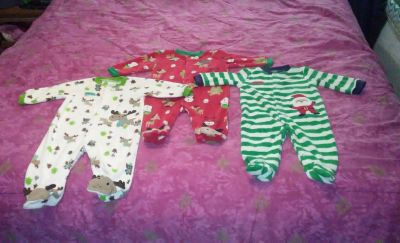 (3) Carter's brand size 3/6 months Christmas theme. BUNDLE DISCOUNT if PURCHASE $25-$4 my profile my meeting information
