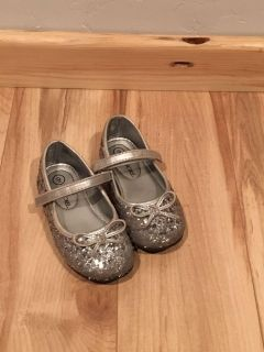 Girls silver sparkle shoes