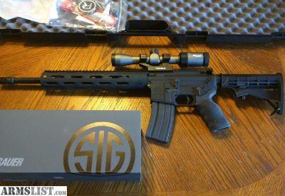 For Sale: Radical Firearms AR15 AR 15 5.56/223 Alum Handguard SIG SAUER Whiskey 3 2-7x32 Scope with Tactical Base