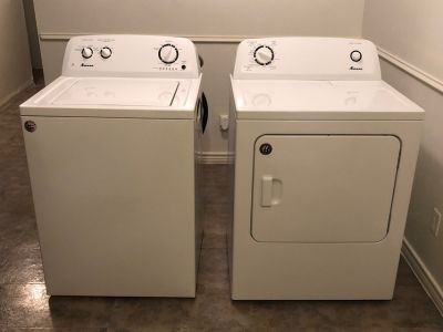 Amana 3.5 cu. ft. Top Load Washer and Dryer 6.5 cu. ft. (Electric)
