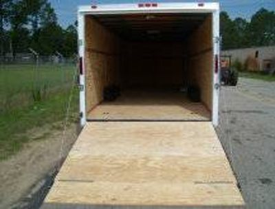 BRAND NEW 8.5 X 28 (STANDARD WHITE IN COLOR) ENCLOSED CARGO TRAILER
