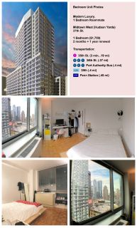 Looking for 1 Roommate, Modern Luxury 2 BR Apt in Hudson Yards