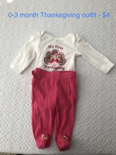 Carter 0-3 month clothes
