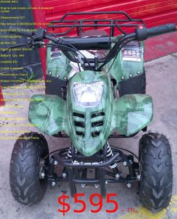 $595, ATV Child 110cc Dirt Bike