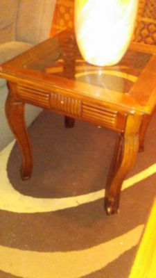 Solid Wood Stained End Tables
