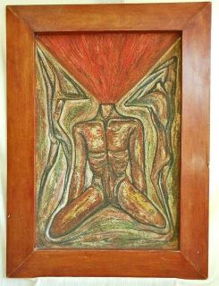 D'Selvilla Latin American Male Nude Oil Painting