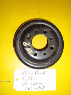 Purchase 96-99 Chevy GMC Pickup C1500 K1500 Tahoe Yukon 5.7L Water Pump Pulley 12550053 motorcycle in Tucson, Arizona, US, for US $35.00