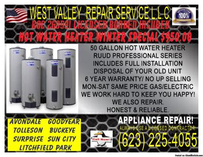Ruud gas 50 gallon Hot Water Heater