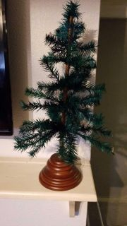 Table top Christmas tree ree with wooden base
