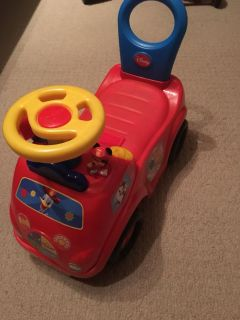 Ride on and Push Mickey Car