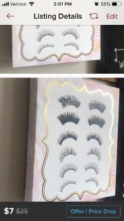 Eyelashes painting