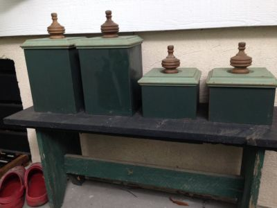 Wood boxes/canisters (4]