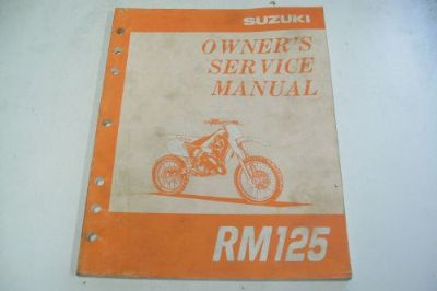 Find SUZUKI DEALER TECHNICAL SHOP SERVICE MANUAL RM125 MOTORCYCLE motorcycle in Sunbury, Pennsylvania, United States, for US $34.95