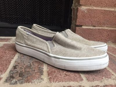 Keds SZ 8 Taupe Slip On Casual Shoes