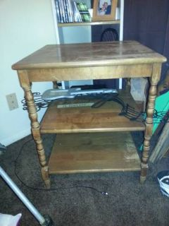 old maple end table
