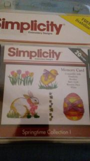 Simplicity Easter embroidery memory card