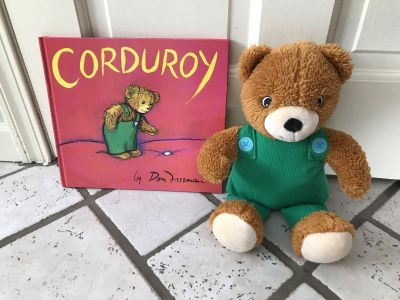 New Corduroy book and bear (never used)