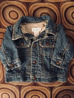 Children s Baby Place Jean Jacket Flannel Lined Size 0-3 months