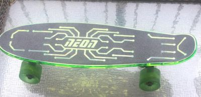 Neon skateboard