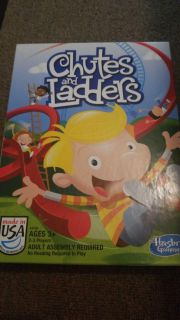 Go fishing game and chutes and ladders game