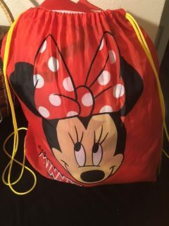 Miss Minnie Mouse Sleeping Bag with nylon tote. Like new.