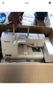 Simplicity embroidery machine
