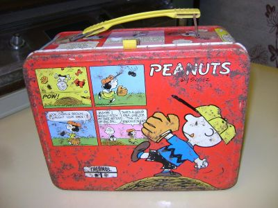 Peanuts Red Metal Lunch Box