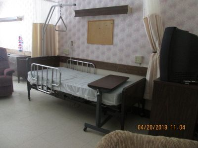Hospital beds with mattress; dressers lg & sm; wardrobes