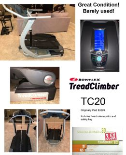 BowFlex TC20 TreadClimber - New Like Condition was $3,299