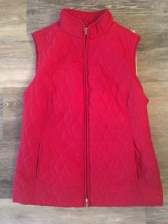 Quilted Red Vest