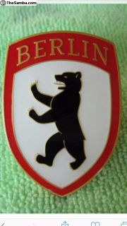 VW Berlin Hood Badge Crest
