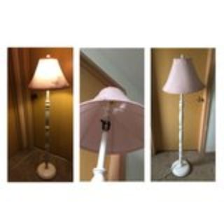Pink and White floor lamp