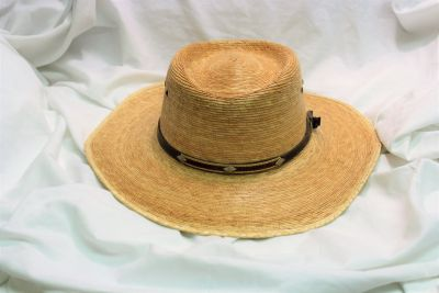 Men's Wide Brim Straw Fishing Hat Sun Shield Vented Hike Camp Summer