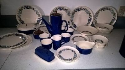 COLLECTIBLE WILD GRAPE DESIGN DINNERWARE
