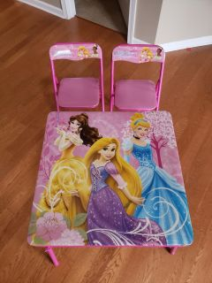 Disney Princess Toddler Table and Chairs