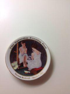 Norman Rockwell plate Mini