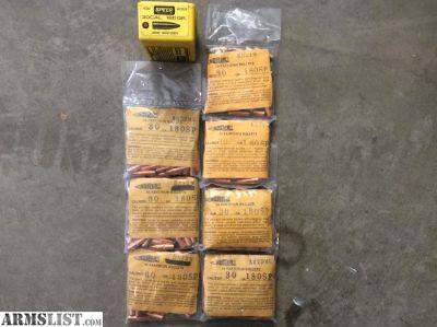 For Sale: 350 - NOSLER 180 gr-.30 cal Partition bullets
