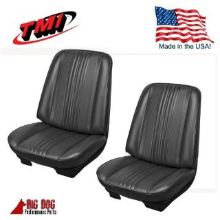 Sell 1970 Chevelle Coupe Front Bucket Seat Upholstery Black Vinyl IN STOCK! by TMI motorcycle in Los Angeles, California, United States, for US $249.99