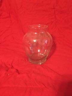 Glass Vase 9 tall by 6 wide