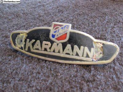 Original Karmann Ghia Side Panel Badge