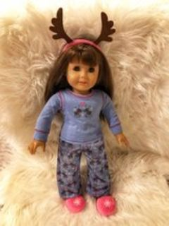 American Girl Doll Winter Pajama Outfit