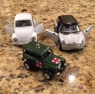 Three pull back & release vehicles