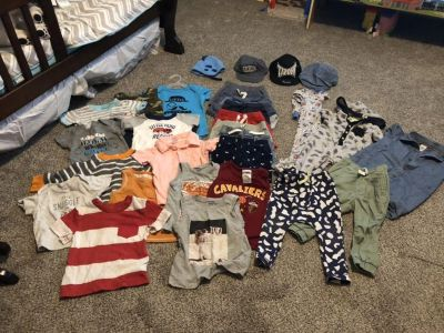 12 Month old Baby boy clothing lot