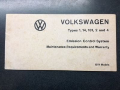 VW - Emission Control System - Manual
