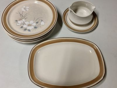 Set of 5 Water Colors Dawn Hearthside Plates
