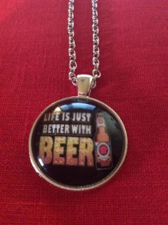 Life is just better with beer necklace unisex