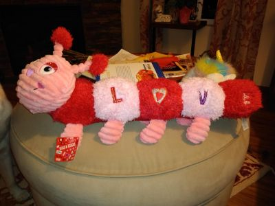 Absolutely adorable and super soft brand new Valentine caterpillar
