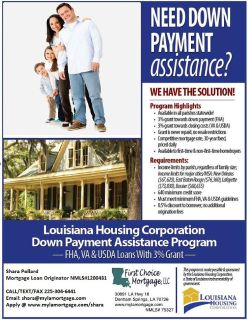 100 Financing and 3 Down Payment Assistance for Qualified borrowers