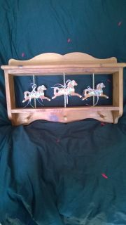 Carousel Horses Shelf