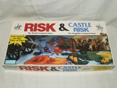 Risk & Castle Risk Board Game Classic Military Strategy 2 Games in 1
